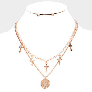 Jewelry - Saint Mary Pendant Necklace earrings